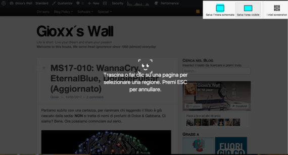 Screenshot integrati in arrivo su Firefox 55