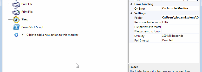 Stampare automaticamente da una cartella di Windows