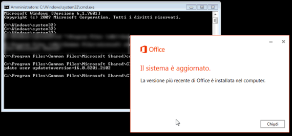Office 16.0.8229.2073 (1706): problemi di rollback