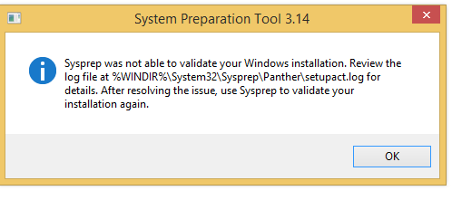 Sysprep was not able to validate your Windows Installation (Bitlocker)
