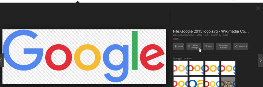 """Google Immagini: riottenere il pulsante """"Visualizza immagine"""" 1"""