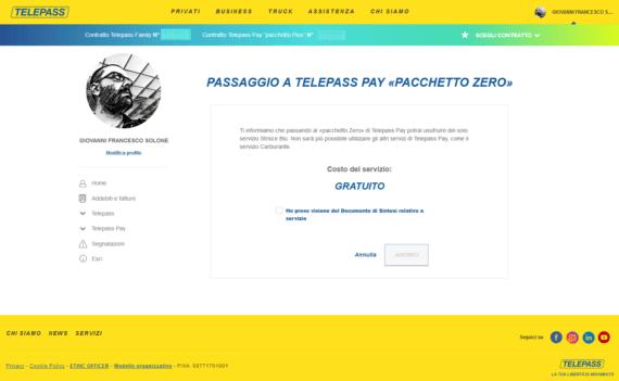 Telepass Pyng+, tornare all'offerta gratuita (solo strisce blu) 1