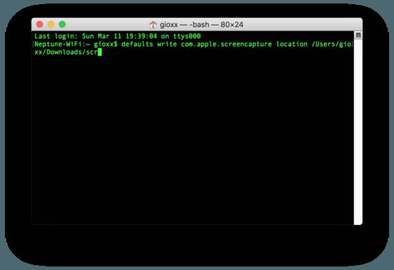 macOS: modificare la posizione di salvataggio degli screenshot 1