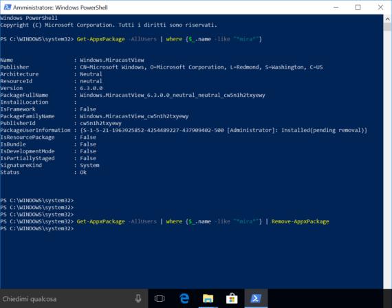 Windows 10 1709: problemi di Sysprep a causa di MiracastView 2