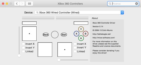 Utilizzare il controller della Xbox 360 o della One su OS X 1