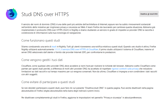 Firefox: DNS over HTTPS (di Cloudflare ma non solo) 1