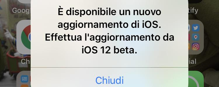 Quando iOS 12 non vuole saperne di aggiornarsi automaticamente