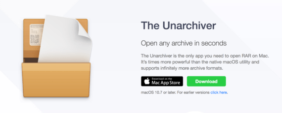 The Unarchiver per macOS
