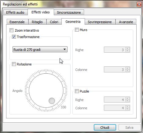 Ruotare un video utilizzando VLC 1