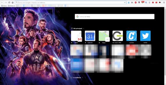 Un tocco di Avengers: Endgame al tuo Firefox