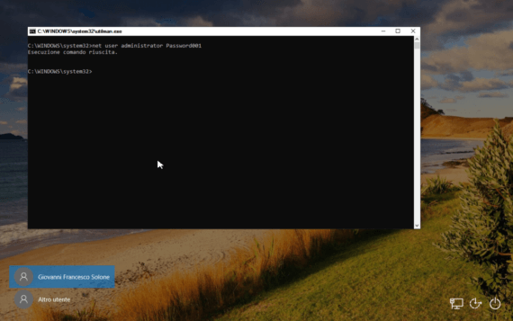 Windows 10: cambiare la password dell'amministratore 5