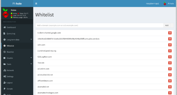 ph-whitelist: Gestisci dinamicamente la Whitelist di Pi-hole 2