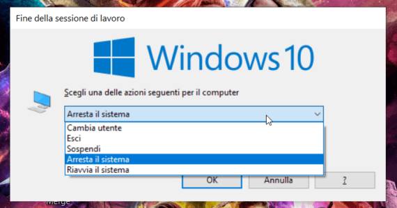 Riavviare o arrestare Windows 10 senza installare gli aggiornamenti 1
