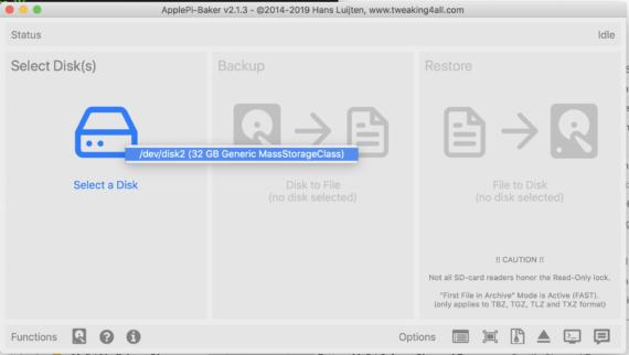 RPi: backup della scheda SD (Windows / macOS) 2