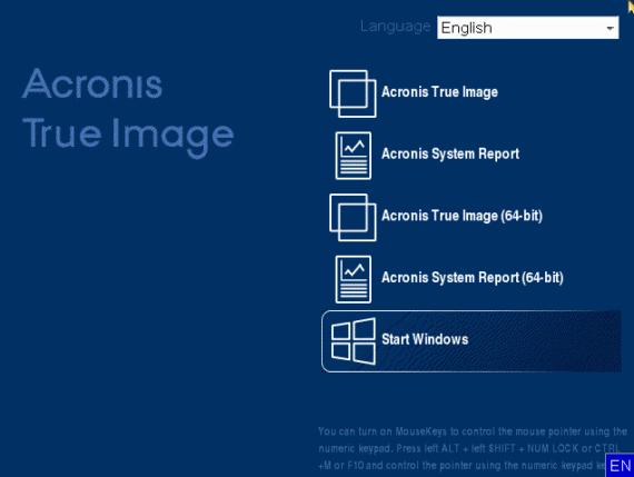 Acronis True Image 2020: scaricare l'immagine ISO