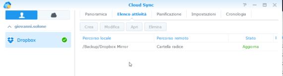 Replica di file sullo stesso NAS (Synology) con rsync