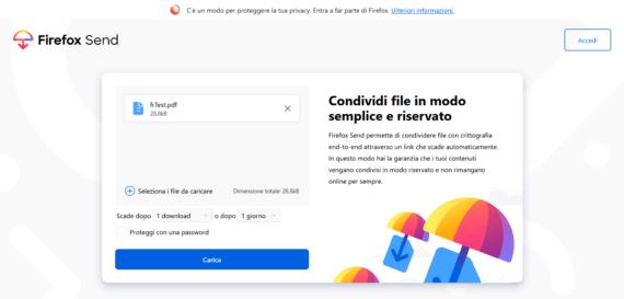 Utilizzare Firefox Send da Prompt dei comandi 1