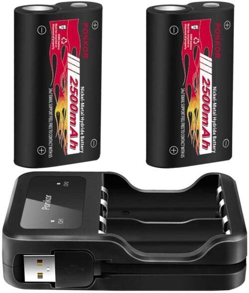 Batterie per Controller Xbox One da 2500mAh (con culla di ricarica)