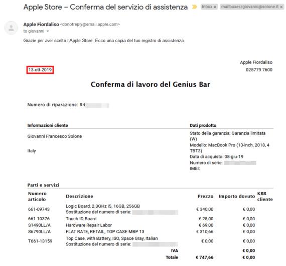 Cara Apple ti scrivo ... 1
