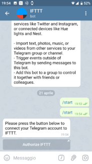 Da WordPress a Telegram: utilizzare il bot ufficiale di IFTTT 2