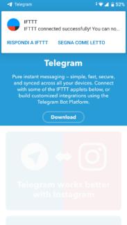 Da WordPress a Telegram: utilizzare il bot ufficiale di IFTTT 4