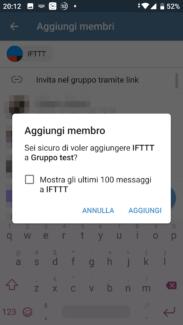 Da WordPress a Telegram: utilizzare il bot ufficiale di IFTTT 6