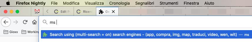 Ricerche multiple con Firefox e Custom Search Engine 2