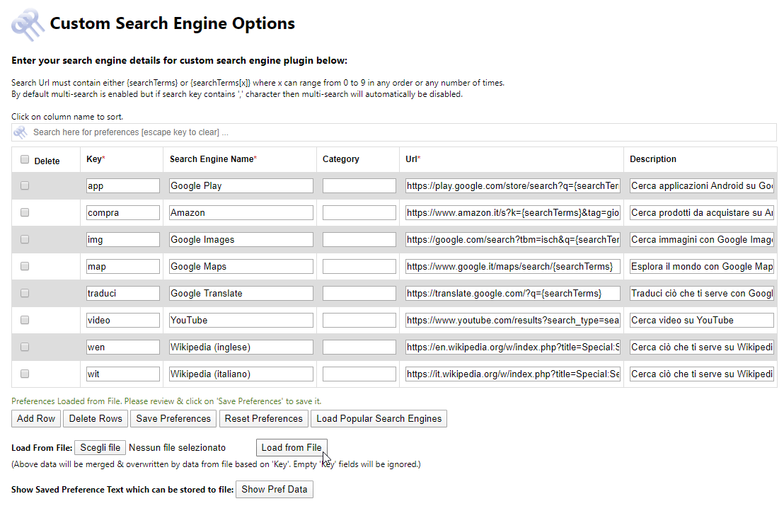 Ricerche multiple con Firefox e Custom Search Engine