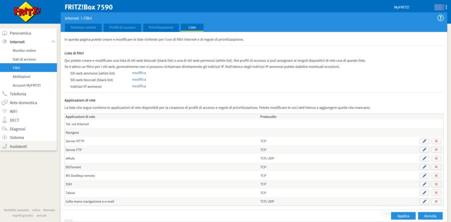 FRITZ!OS: Parental Control e configurazione ad-hoc dei filtri 2
