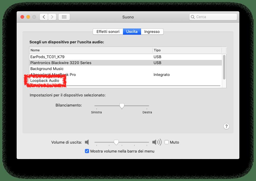 Gestire le sorgenti audio su macOS 16