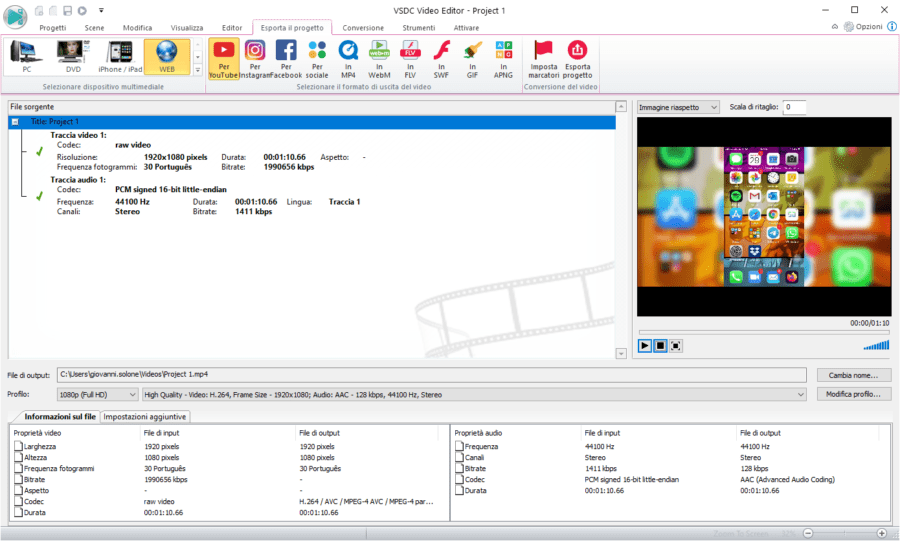 Trasformare un video verticale in orizzontale con VSDC Free Video Editor 6