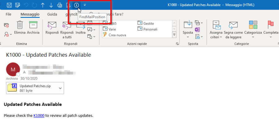 Outlook: in quale cartella si trova questa email? 6