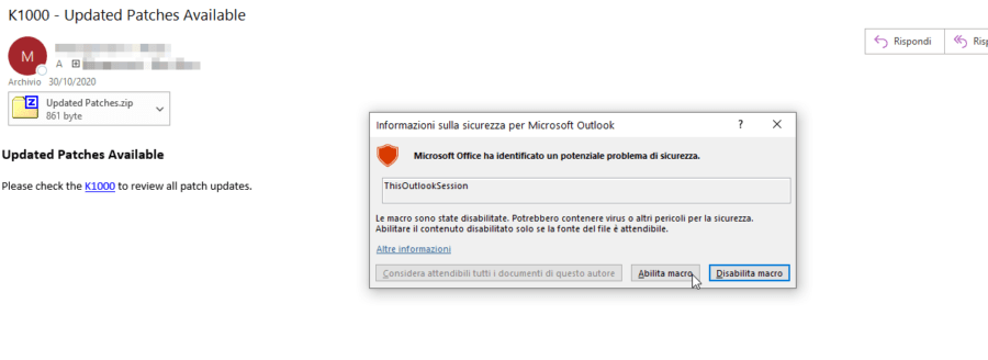 Outlook: in quale cartella si trova questa email? 7