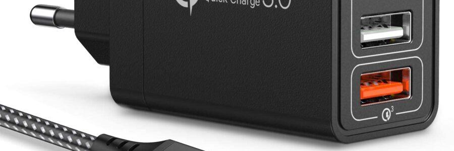 JOOMFEEN caricatore USB da muro con Quick Charger 3.0 30W/6A
