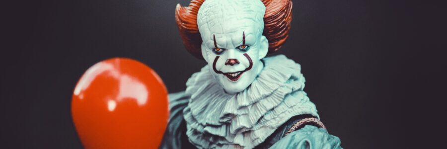 In honor of October, the month of spooks and horror. Pennywise the dancing clown.