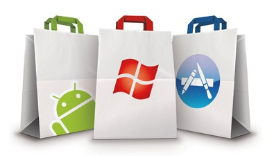 Google Play, AppStore, Windows Store
