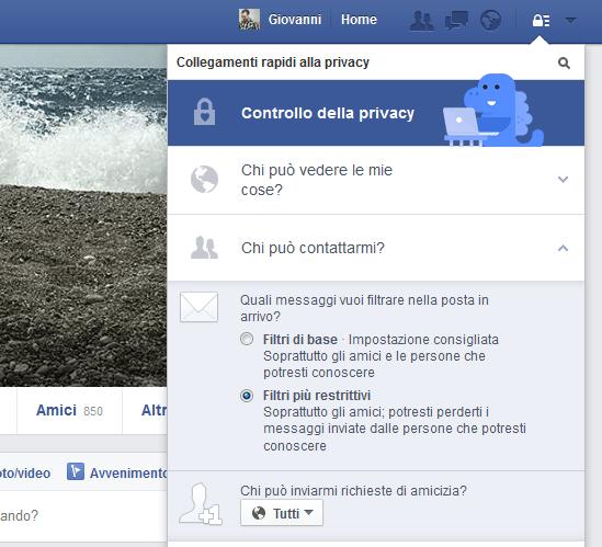 Facebook Chi puo contattarmi