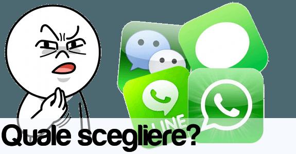 Whatsapp, Line, WeChat: cosa scegliere e perché 1