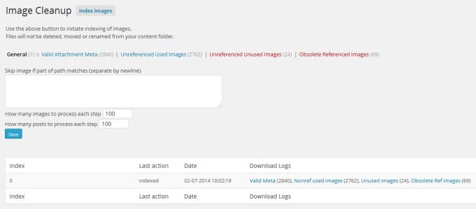 Image Cleanup WordPress