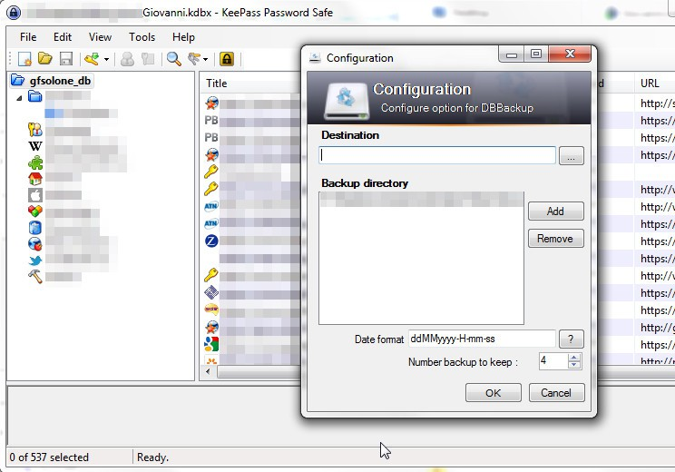 Keepass: DB Backup plug-in