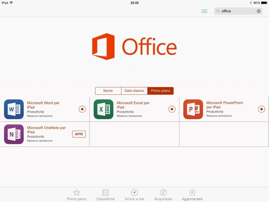 Office 365: le app per iPad! 1