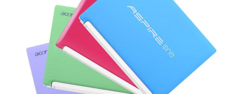 Acer Aspire One Happy: pulizia del sistema di fabbrica