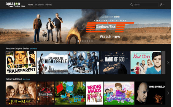 Amazon Prime Video approda in Italia