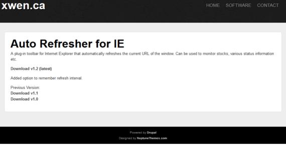 Auto Refresher per Internet Explorer