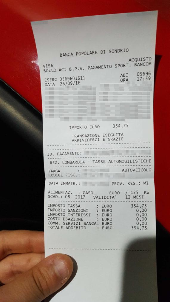 Bollo auto Lombardia: zero spese con Banca Popolare di Sondrio 1