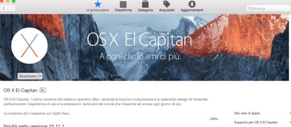 El Capitan: creare una chiave USB per installare il sistema 1