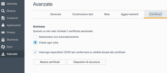 Firefox: richiesta di identificazione utente e popup ripetitivi 1