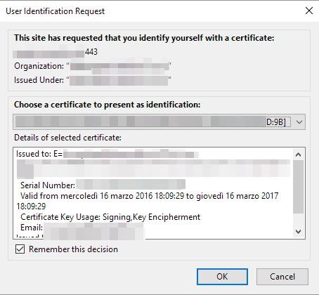 Firefox: richiesta di identificazione utente e popup ripetitivi