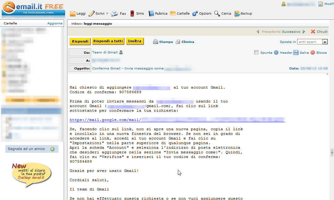 gmail-CodiceConfermaAlias