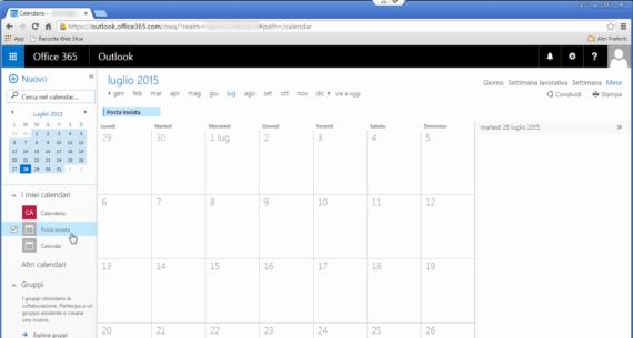 """Outlook 2013: cartella """"Posta inviata"""" nel Calendario? La soluzione. 2"""